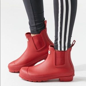 Hunter Original Red Waterproof Chelsea Rain Boot